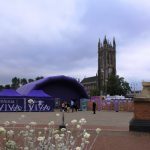 photo of arts project taking place at church square