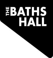 the logo for the baths hall