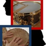 photo of hands playing a drum for the time out drum therapy