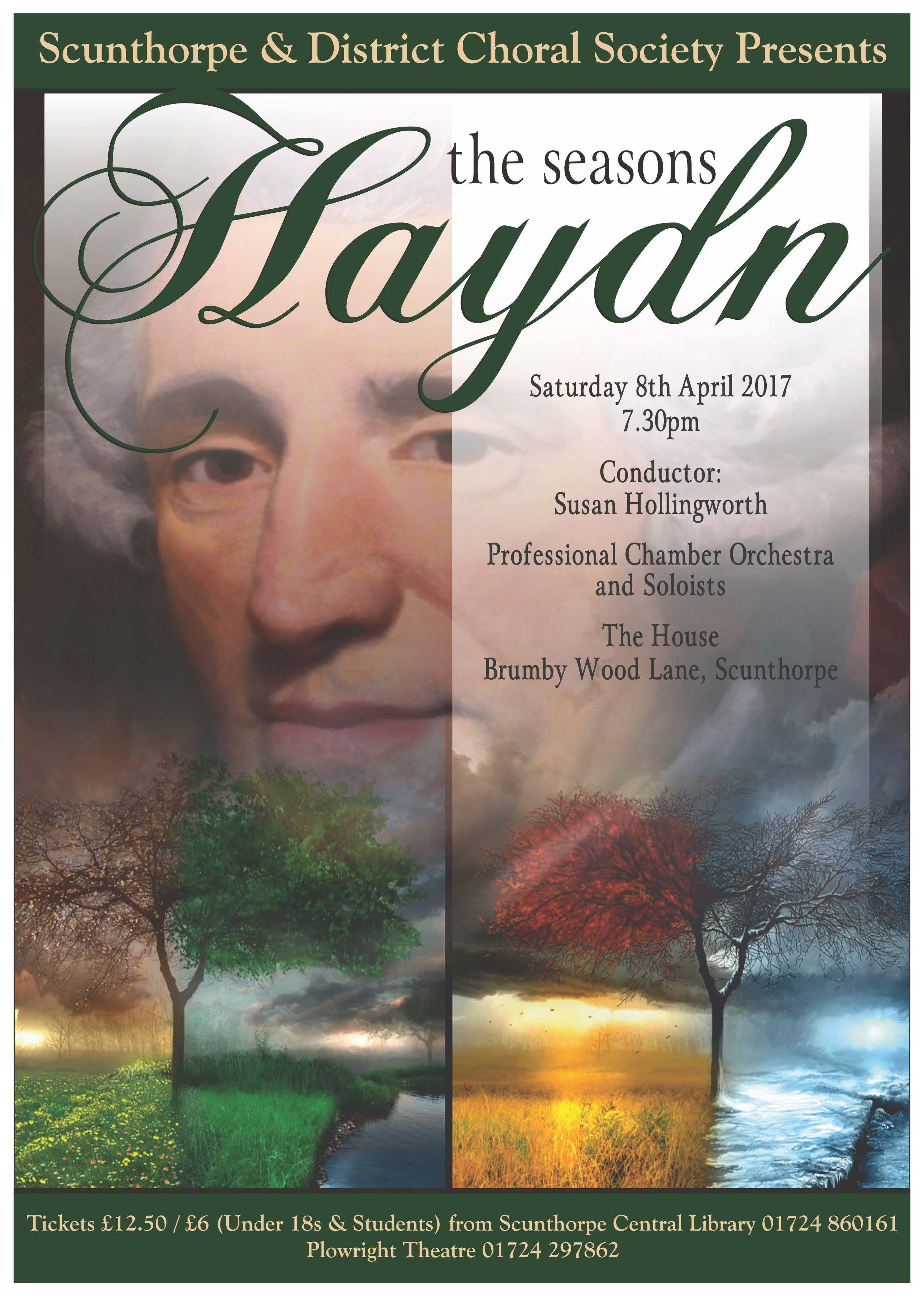 Scunthorpe & District Choral Society presents The Seasons by Haydn