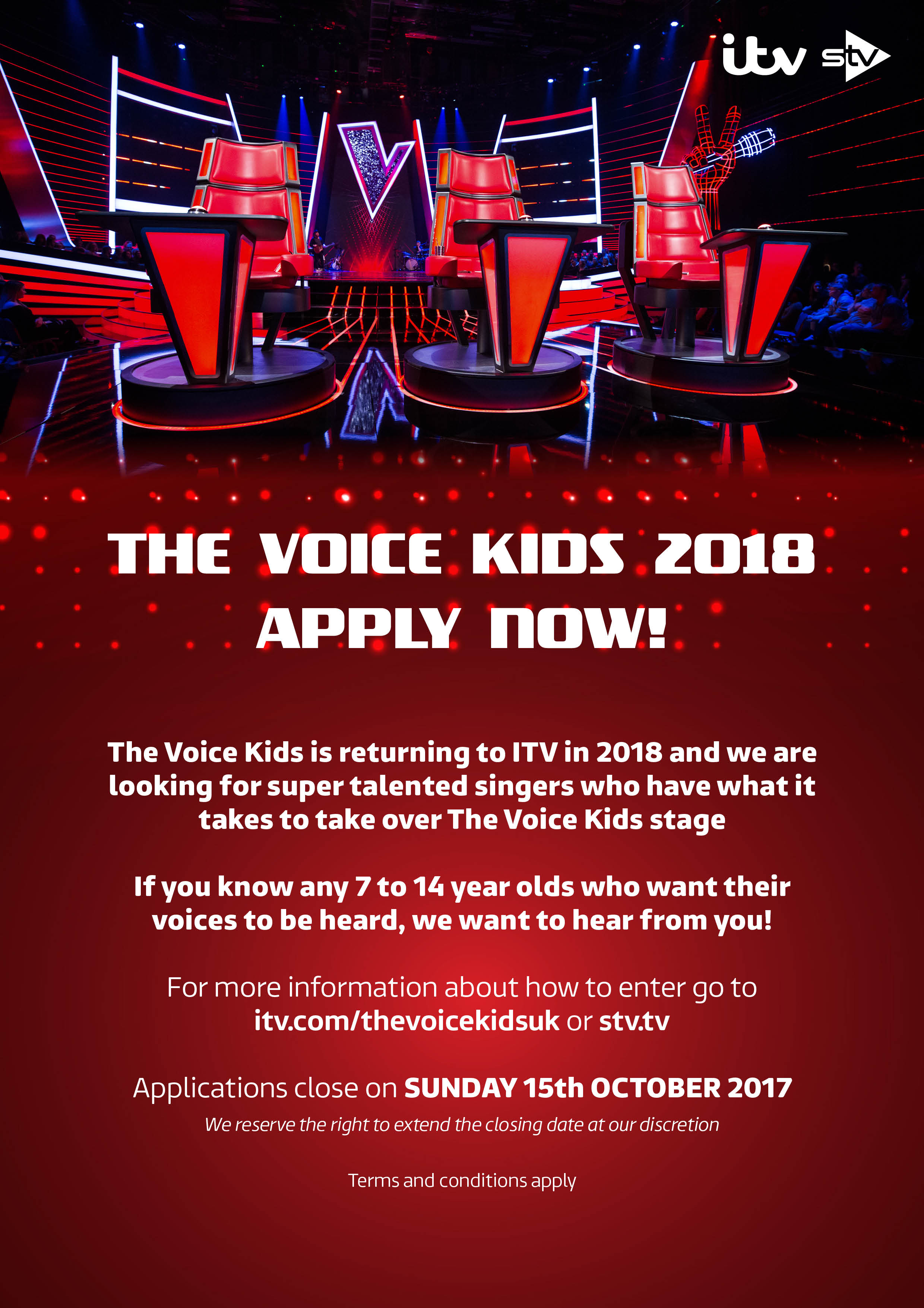 The Voice Kids 2018 – Apply Now!