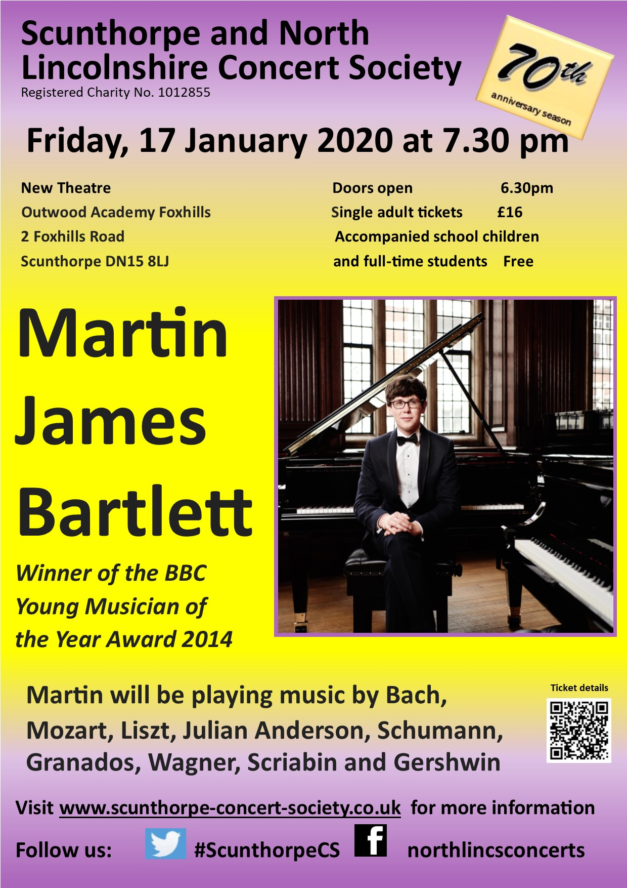 Martin James Bartlett: Winner of the BBC Young Musician of the Year Award 2014