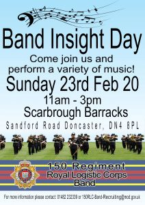 Royal Logistic Corps Band Insight Day @ Scarborough Barracks